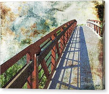 Bridge Over Clouds Canvas Print