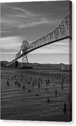 Bridge Over Columbia Canvas Print by Jeff Kolker