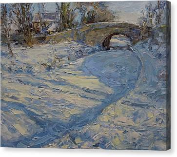 Bridge Over Lancaster Canal Canvas Print by James Swanson