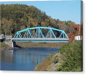 Bridge Over Rondout Creek 2 Canvas Print