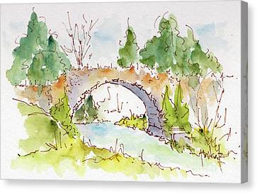 Bridge Over Spencer Creek Canvas Print