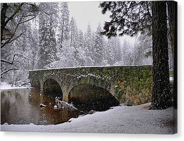 Bridge Over The Merced Canvas Print by Frank Remar