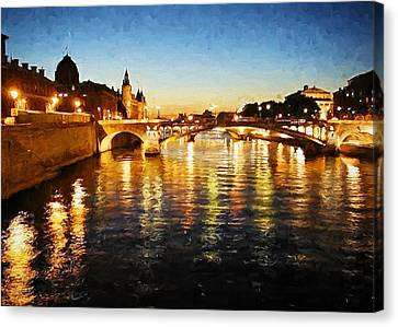 Bridge Over The Seine Canvas Print