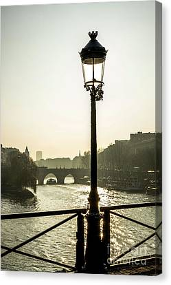 City Of Bridges Canvas Print - Bridge Over The Seine. Paris. France. Europe. by Bernard Jaubert