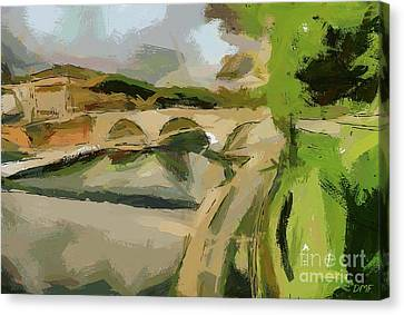 Bridge Over The Siene Canvas Print by Dragica Micki Fortuna