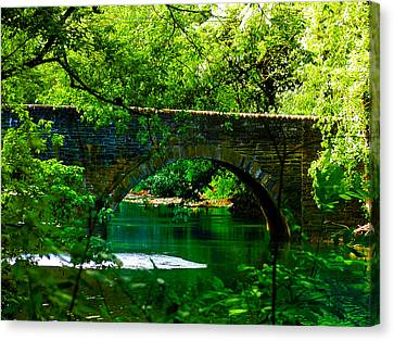 Bridge Over The Wissahickon Canvas Print