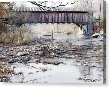Bridge Over Troubled Waters Canvas Print by EricaMaxine  Price