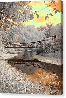 Bridge Reflections Canvas Print by Jane Linders