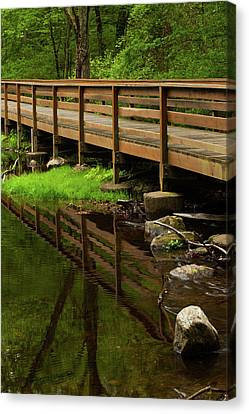Canvas Print - Bridge Reflects by Karol Livote