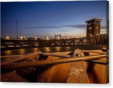 Bridge Scene At Dawn  Canvas Print by Sven Brogren