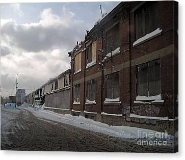Bridge Street Decay Canvas Print by Reb Frost