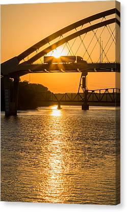 Bridge Sunrise 2 Canvas Print