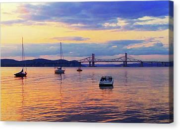 Bridge Sunset Canvas Print