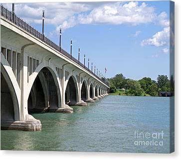 Bridge To Belle Isle Canvas Print by Ann Horn