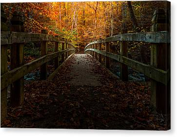 Bridge To Enlightenment Canvas Print by Ed Clark