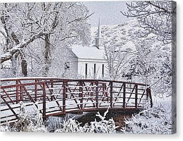 Canvas Print featuring the photograph Bridge To Faith by Diane Alexander