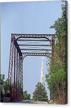 Canvas Print featuring the photograph Bridge To God by Gary Wonning