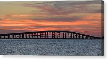 Bridge To Hatteras Canvas Print