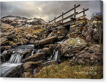 Cwm Idwal Canvas Print - Bridge To Moutains by Adrian Evans