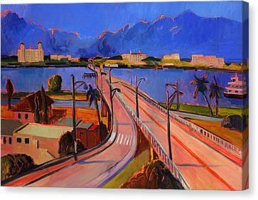 Bridge To Palm Beach Canvas Print