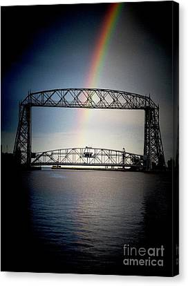 Somewhere Over The Lift Bridge Canvas Print by Mark David Zahn Photography