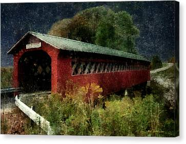Bridge To The Past Canvas Print by RC deWinter