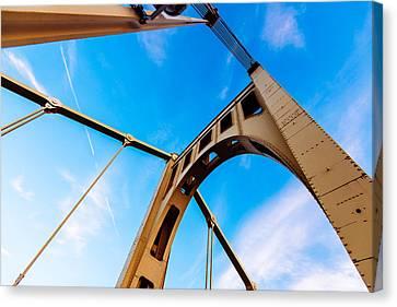 Bridge To The Sky Canvas Print by Paul Scolieri