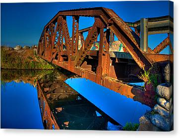 Bridge To Yesterday Canvas Print by William Wetmore