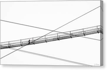 Canvas Print featuring the photograph Bridge Walker by Joe Bonita