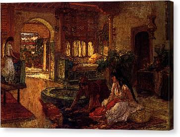 Orientalists Canvas Print - Bridgeman Frederick Arthur Orientalist Interior by PixBreak Art