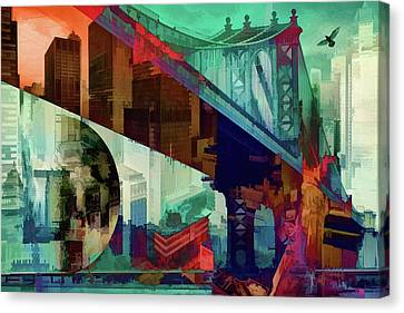 Bridges Of New York  Canvas Print