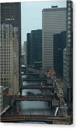 Bridges Over The River Chi Canvas Print by Sheryl Thomas