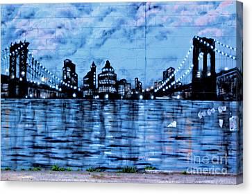 Bridges To New York Canvas Print