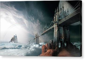 Mist Canvas Print - Bridges To The Neverland by George Grie