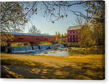 Bridgeton Mill Covered Bridge Canvas Print