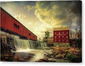 Bridgeton Mill Canvas Print by Joe Ladendorf