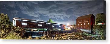 Bridgeton Mill Canvas Print by Norberto Nunes