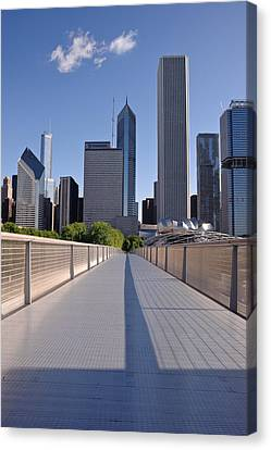 Bridgeway To Chicago Canvas Print by Steve Gadomski