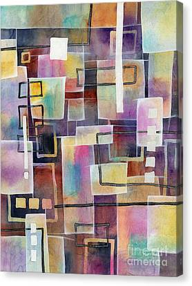 Canvas Print featuring the painting Bridging Gaps by Hailey E Herrera