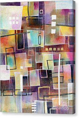 Canvas Print featuring the painting Bridging Gaps 2 by Hailey E Herrera