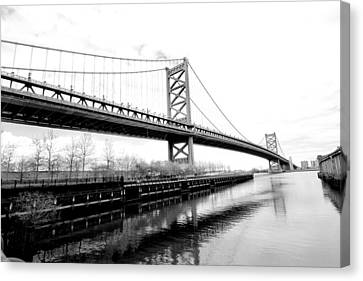 Bridging The Gap Canvas Print by Greg Fortier