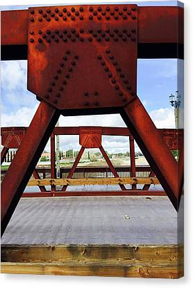 Bridging The Gap Canvas Print by Russell Keating
