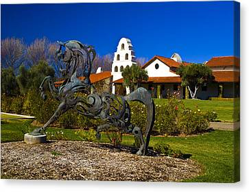Bridlewood Winery Sculpter Canvas Print by Gary Brandes