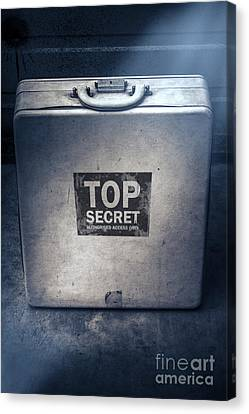Brief Case Of Top Secret Espionage Canvas Print by Jorgo Photography - Wall Art Gallery