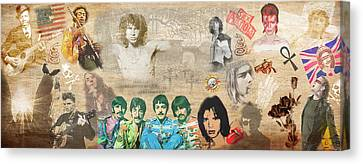 Brief History Of Rock'n'roll Canvas Print by Stephen Walker