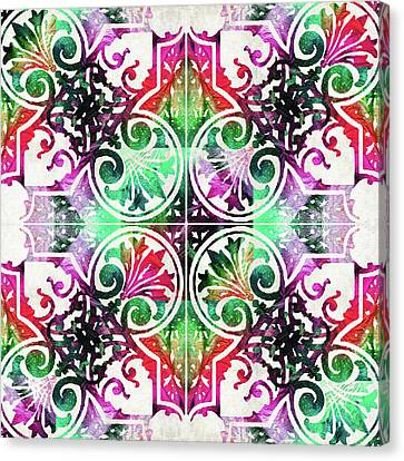 Bright Colorful Pattern Art - Color Fusion Design 10 By Sharon Cummings Canvas Print