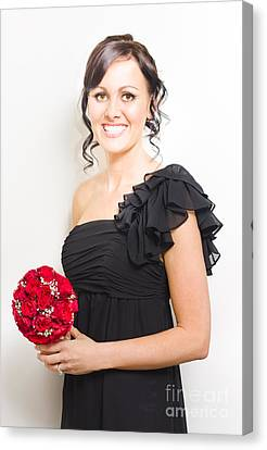 Bright Eyed Bridesmaid Canvas Print by Jorgo Photography - Wall Art Gallery