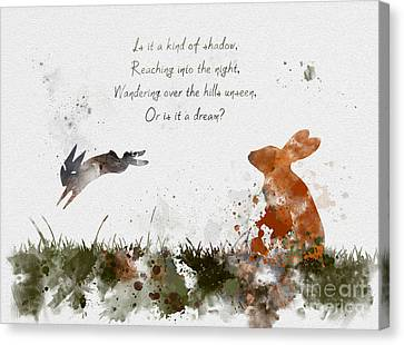 Rabbit Canvas Print - Bright Eyes by Rebecca Jenkins