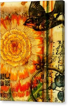 Canvas Print featuring the painting Bright Life Encaustic by Bellesouth Studio