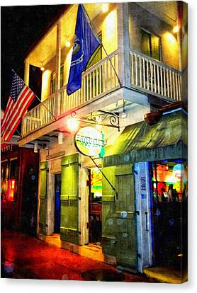 Canvas Print featuring the photograph Bright Lights In The French Quarter by Glenn McCarthy Art and Photography